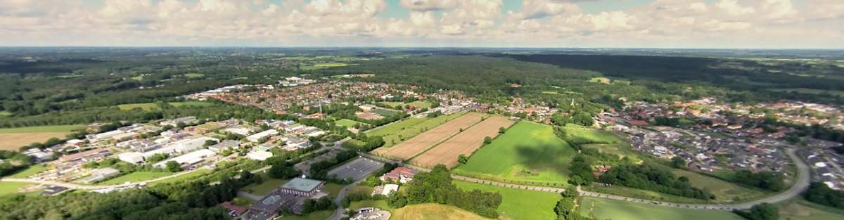 Luftbild-Panorama über Trittau