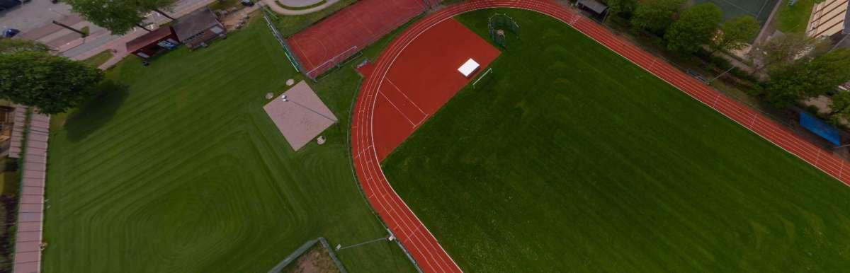 Luftbild-Panorama TSV Trittau A & B-Platz